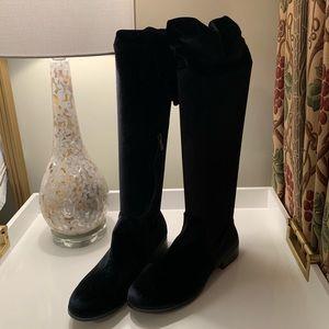 NWOT Catherine Malandrino Black Velvet Boots